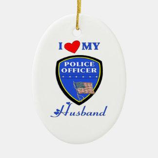 Adorno De Cerámica Amo a mi marido de la policía