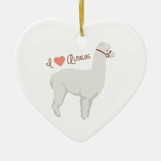 Adorno De Cerámica Amo alpacas