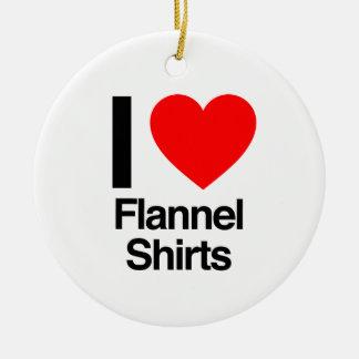 Adorno De Cerámica amo el camisetas de la franela