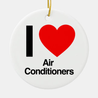 Adorno De Cerámica amo los acondicionadores de aire