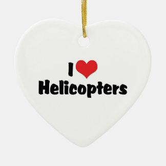 Adorno De Cerámica Amo los helicópteros del corazón