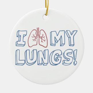 Adorno De Cerámica Amo mis pulmones