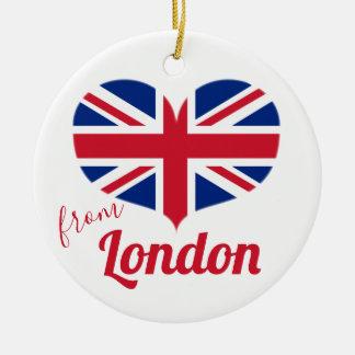 Adorno De Cerámica Amor de la bandera BRITÁNICA en forma de corazón