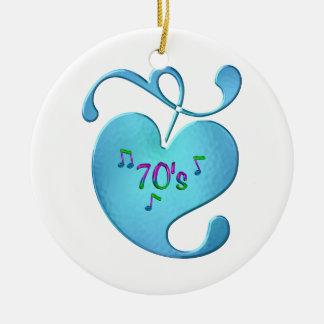 Adorno De Cerámica amor de la música 70s