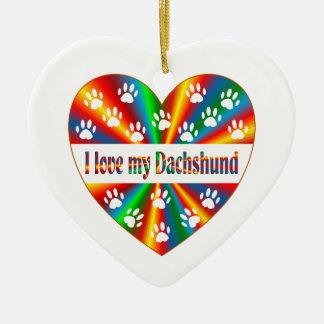 Adorno De Cerámica Amor del Dachshund