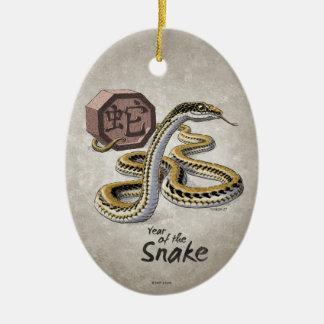 Adorno De Cerámica Año chino del zodiaco del arte de la serpiente