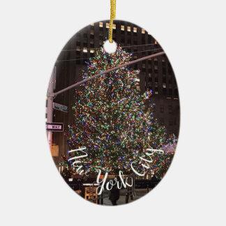 Adorno De Cerámica Árbol de navidad de centro de New York City