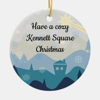 Adorno De Cerámica Árbol de navidad de Kennett/ornamento cuadrados