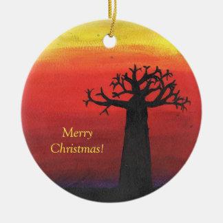 Adorno De Cerámica Árbol de navidad del baobab