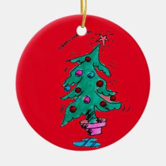 Adorno De Cerámica Árbol de navidad - Felices Navidad