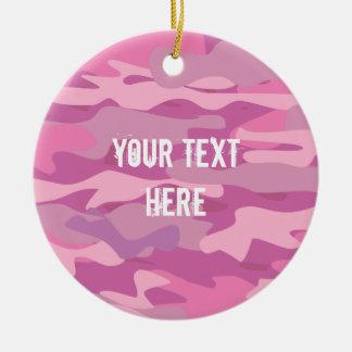 Adorno De Cerámica Árbol de navidad rosado de encargo de la foto del