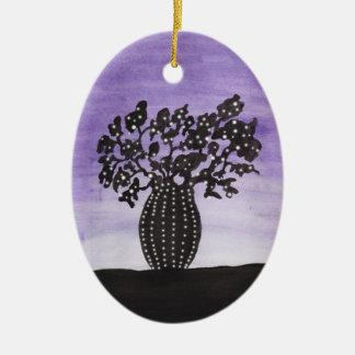Adorno De Cerámica Árbol púrpura del baobab del cielo