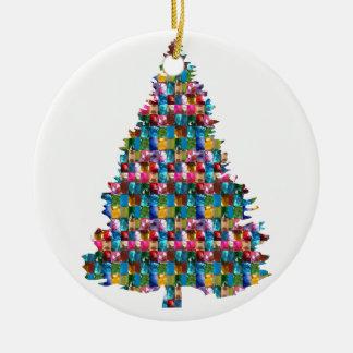 Adorno De Cerámica Árbol tachonado GEMA de Navidad:  Felices Navidad