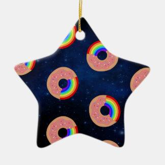 Adorno De Cerámica Arco iris del buñuelo de la galaxia