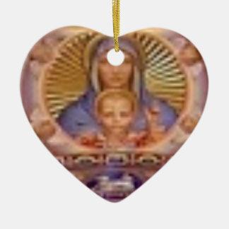 Adorno De Cerámica arte de Maria y del niño