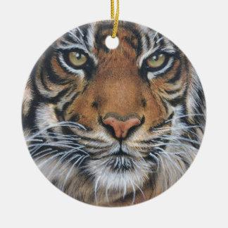 Adorno De Cerámica Arte del animal de la fauna del tigre