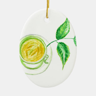 Adorno De Cerámica Arte del té verde