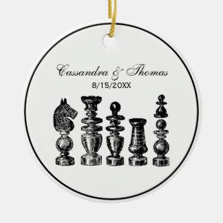 Adorno De Cerámica Arte del vintage de los pedazos de ajedrez