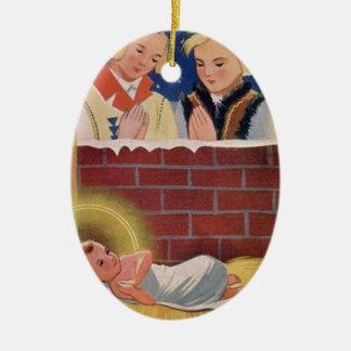 Adorno De Cerámica Arte retro del navidad polaco de Wesołyeh Świąt