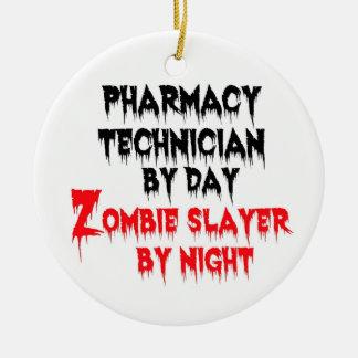 Adorno De Cerámica Asesino del zombi del técnico de la farmacia