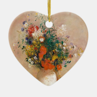 Adorno De Cerámica Assortion de flores en florero
