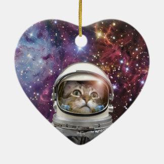 Adorno De Cerámica Astronauta del gato - gato loco - gato