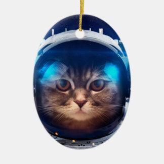 Adorno De Cerámica Astronauta del gato - gatos en espacio - espacio