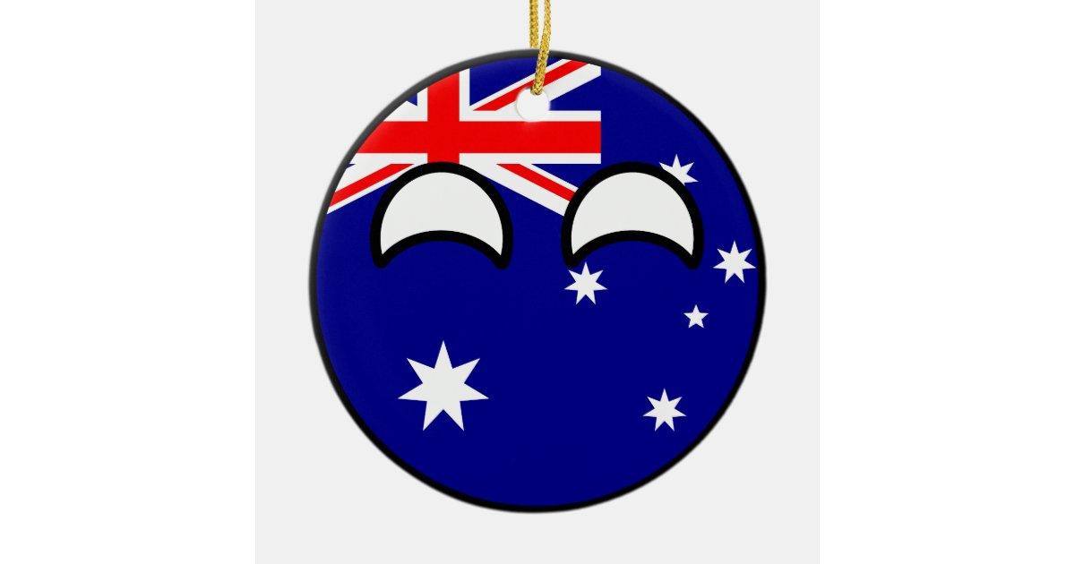Adorno De Cerámica Australia Geeky que tiende divertida Countryball ...