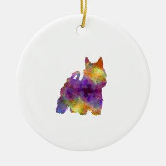 Adorno De Cerámica Australian Silky Terrier in watercolor