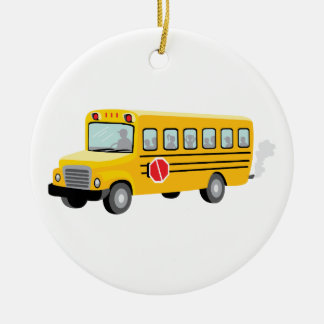 Adorno De Cerámica Autobús escolar