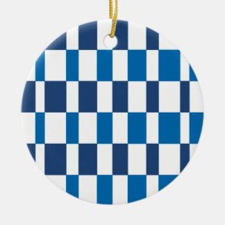 Adorno De Cerámica Azul de la pendiente