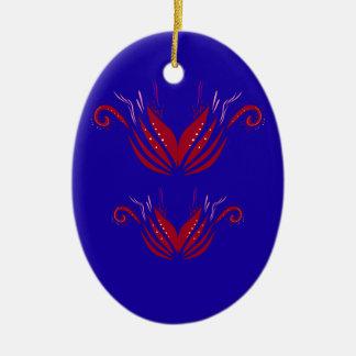 Adorno De Cerámica Azul rojo de los elementos del diseño