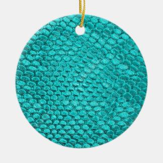 Adorno De Cerámica Azules turquesas del reptil