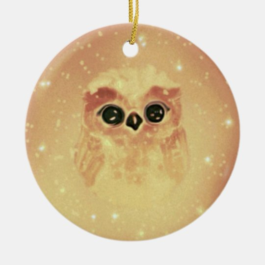 Adorno De Cerámica baby owl
