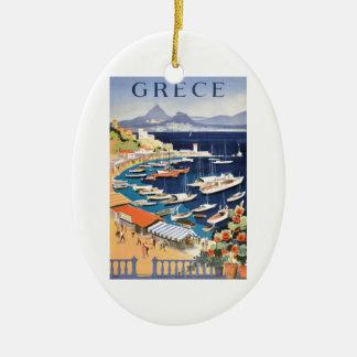 Adorno De Cerámica Bahía 1955 de Grecia Atenas del poster del viaje