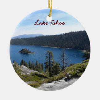 Adorno De Cerámica Bahía de la esmeralda de Tahoe- del lago
