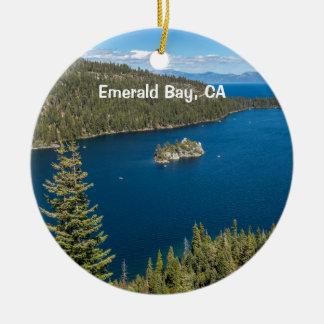 Adorno De Cerámica Bahía esmeralda con el lago Tahoe