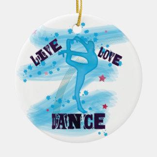 Adorno De Cerámica Bailarín vivo del azul de la danza del amor del