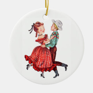 Adorno De Cerámica Baile cuadrado