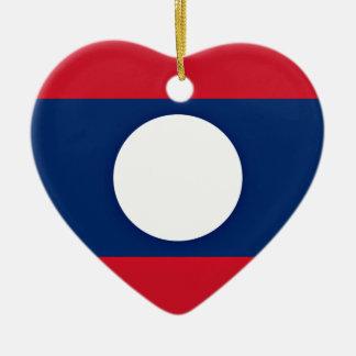 Adorno De Cerámica ¡Bajo costo! Bandera de Laos