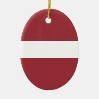 Adorno De Cerámica ¡Bajo costo! Bandera de Letonia