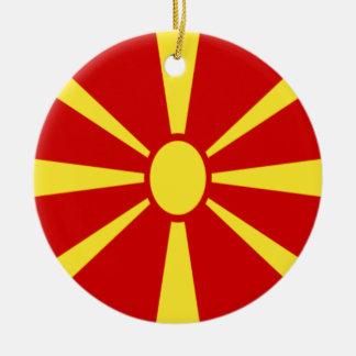 Adorno De Cerámica ¡Bajo costo! Bandera de Macedonia