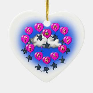 Adorno De Cerámica baloons de las tarjetas del día de San Valentín