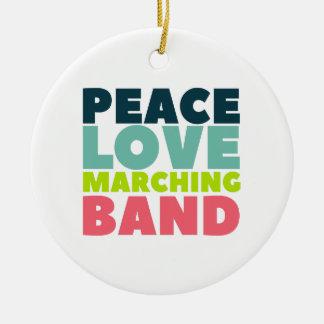 Adorno De Cerámica Banda del amor de la paz