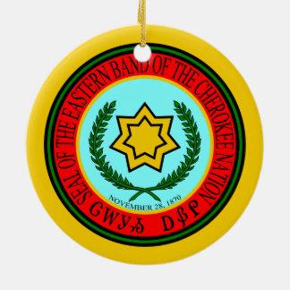 Adorno De Cerámica Banda del este del sello cherokee