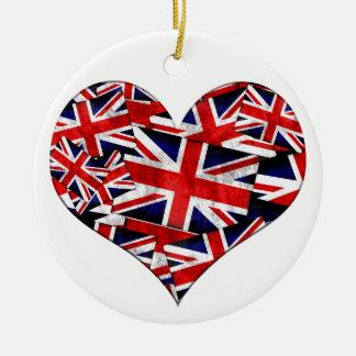 Adorno De Cerámica Bandera británica de Union Jack Inglaterra Reino