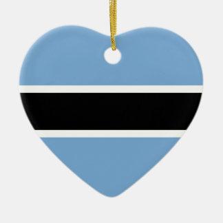Adorno De Cerámica Bandera de Botswana