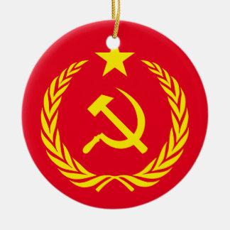 Adorno De Cerámica Bandera de cerámica del comunista de la guerra