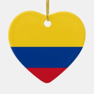Adorno De Cerámica Bandera de Columbia, República de Colombia