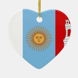 Adorno De Cerámica Bandera de Córdoba, la Argentina